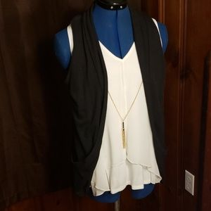 Body central tank top cardigan